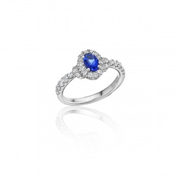 Pure Perfection Dainty Sapphire and Diamond Ring