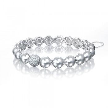 Silver Dew Drops Pavé Bracelet featuring Pavé