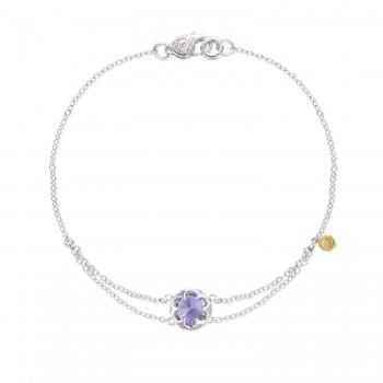 Petite Split Chain Bracelet featuring Amethyst
