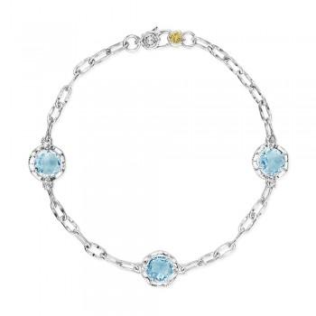Triple Gem Bracelet featuring Sky Blue Topaz
