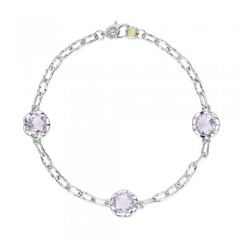 Triple Gem Bracelet featuring Rose Amethyst
