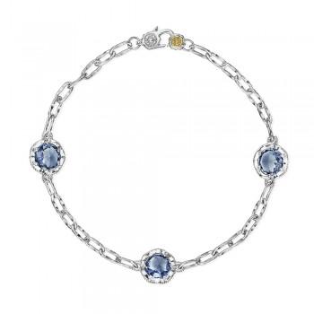 Triple Gem Bracelet featuring London Blue Topaz
