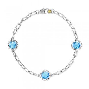 Triple Gem Bracelet featuring Swiss Blue Topaz