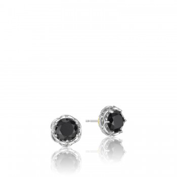 Crescent Crown Studs featuring Black Onyx