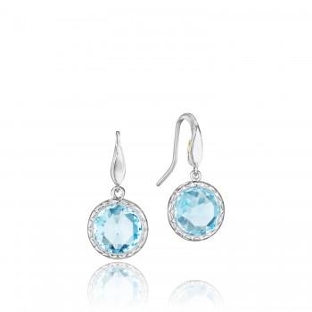 Simply Gem Drop Earrings featuring Sky Blue Topaz