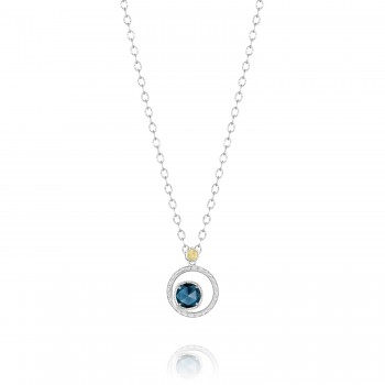 Silver Bloom Necklace featuring London Blue Topaz