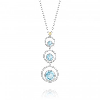 Skipping Stone Necklace featuring Sky Blue Topaz