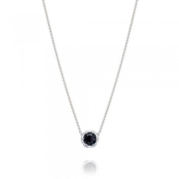 Crescent Station Necklace featuring Onyx