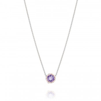 Crescent Station Necklace featuring Amethyst sn204p01