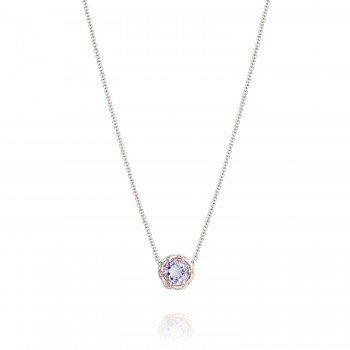 Crescent Station Necklace featuring Rose Amethyst sn204p13