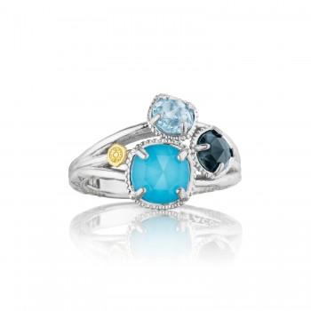 Petite Budding Brilliance Ring featuring Assorted Gemstones