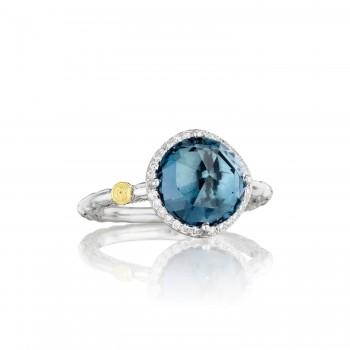 Pavé Simply Gem Ring featuring London Blue Topaz
