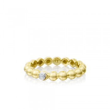 Petite Dew Droplets Ring in Yellow Gold