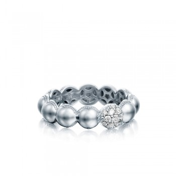 Pavé Dew Droplets Ring in Silver with Diamonds