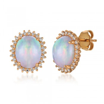 Le Vian 14K Strawberry Gold® Neopolitan Opal Earring SVCM 29