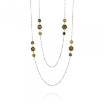 Midnight Sun Multi-Gem Wrap Necklace
