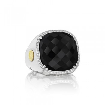 City Lights After Dark Cushion Cut Gem Ring