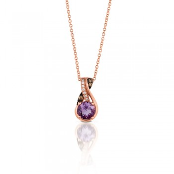 Le Vian 14K Strawberry Gold® Cotton Candy Amethyst Pendant WIZD 12