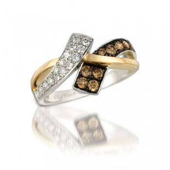 Le Vian 14K Two Tone Gold Chocolate Diamond Ring WIZZ 20
