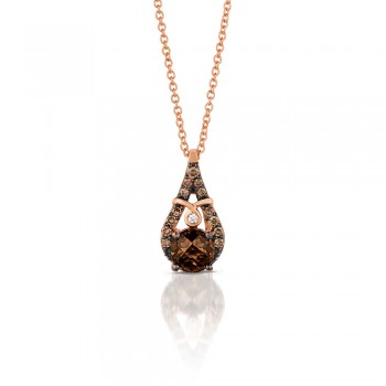 Le Vian 14K Strawberry Gold® Chocolate Quartz Pendant YQML 26