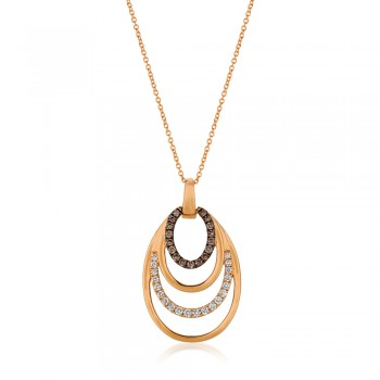 Le Vian 14K Strawberry Gold® Vanilla Diamond Pendant YQTO 104