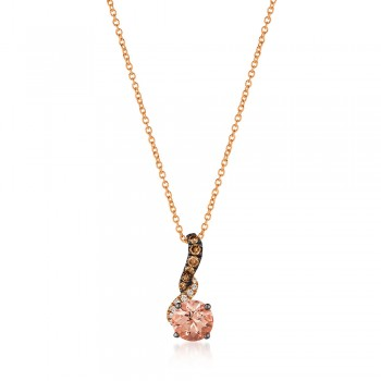 Le Vian 14K Strawberry Gold® Peach Morganite Pendant ZUMY 15