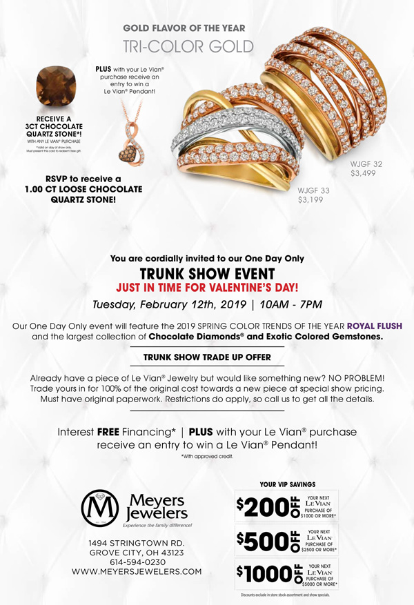 Meyers Jewelers - Events | Grove City, Ohio